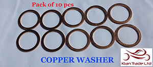 "Copper crush washers suit gasket fuel 14mm or 9/16"" banjo bolt brake M14x28x1"