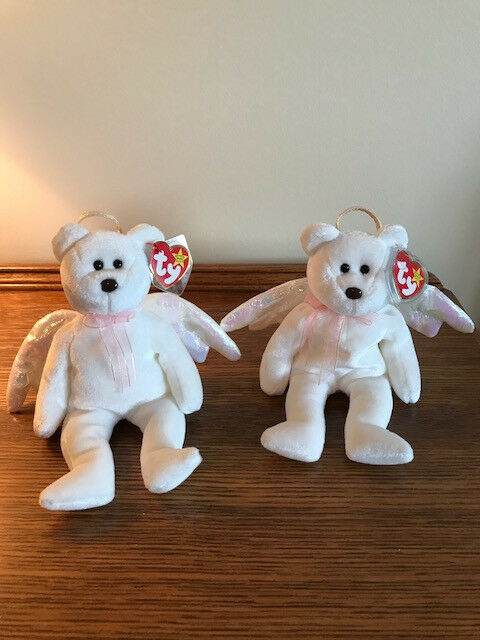 Beanie Babies, Halo the Angel Bear Pair, Selling Two for the Price of One