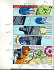 Original 1985 Marvel Comics Hulk 309 color guide art page 11: Sal Buscema/1980's