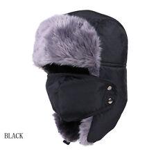 Men/Women Winter Fur Beanie Aviator Bomber Hat Trooper Earflap Warm Ski Mask Cap
