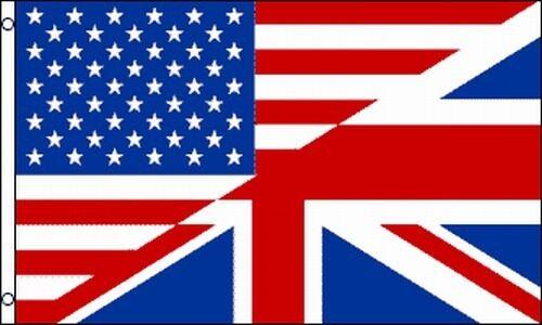 USA UK Friendship Flag 3x5 ft United States United Kingdom Combined England US