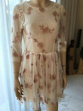 BLUMARINE BLUGIRL Embroidered Lace Dress with Full Skirt  IT 40 UK 8 BNWT