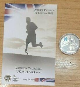 2010 Royal Mint London Olympics Winston Churchill Proof £5 COA