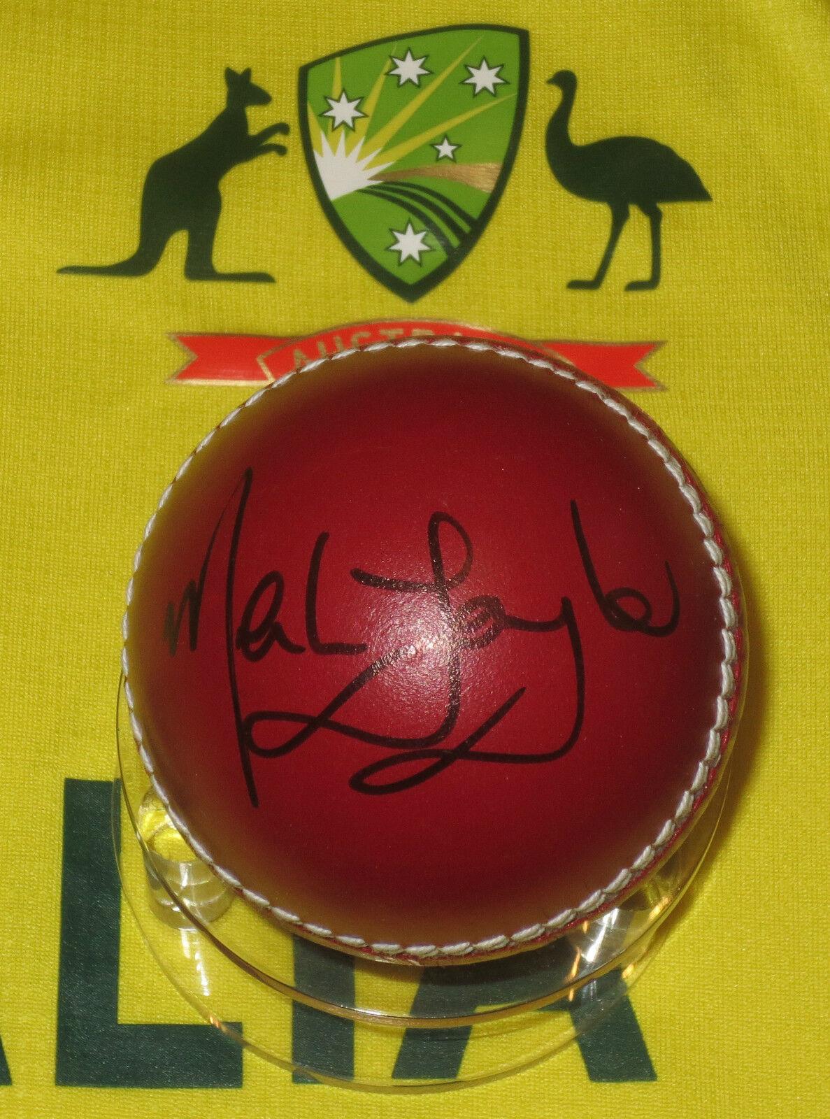 Mark Taylor Firmado pelota de cricket Sin Marco + Foto prueba & C.o.a