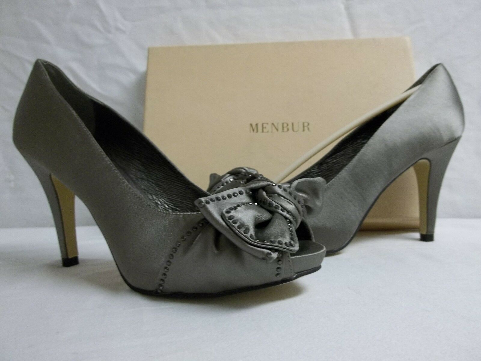 Uomobur Size EU 38   7.5 M Gurk Cement Open Toe Pumps New Donna Shoes