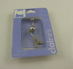 bling-crystal-Eiffel-tower-belly-button-ring-piercing-body-jewelry