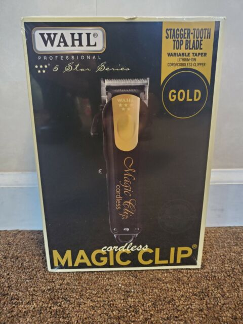 Wahl Professional  5-Star Series Cordless Magic Clip Clipper Black & Gold