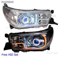 Set Head lamp Projector DRL LED HID Fit Toyota Hilux Revo SR5 M70 M80 2015 2016
