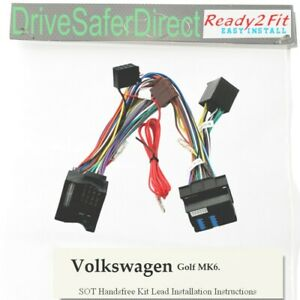 SOT-8502-800 Ready2Fit Fully-Pop ISO Handsfree Lead for /Volkswagen Golf