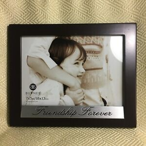 Burnes-Friendship-Forever-5-034-x-7-034-Photo-Picture-Frame-Wood-Look