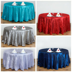 Image Is Loading 10 Pcs 120 034 Pintuck Fancy Round Tablecloths