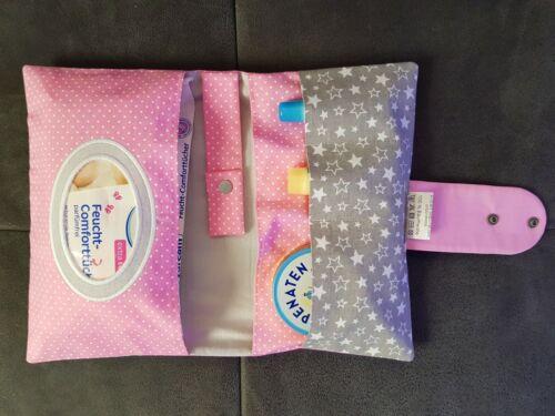 XXL Windeltasche Wickeltasche oder U-Hefthülle Muterpasshülle Schmetterling Pink