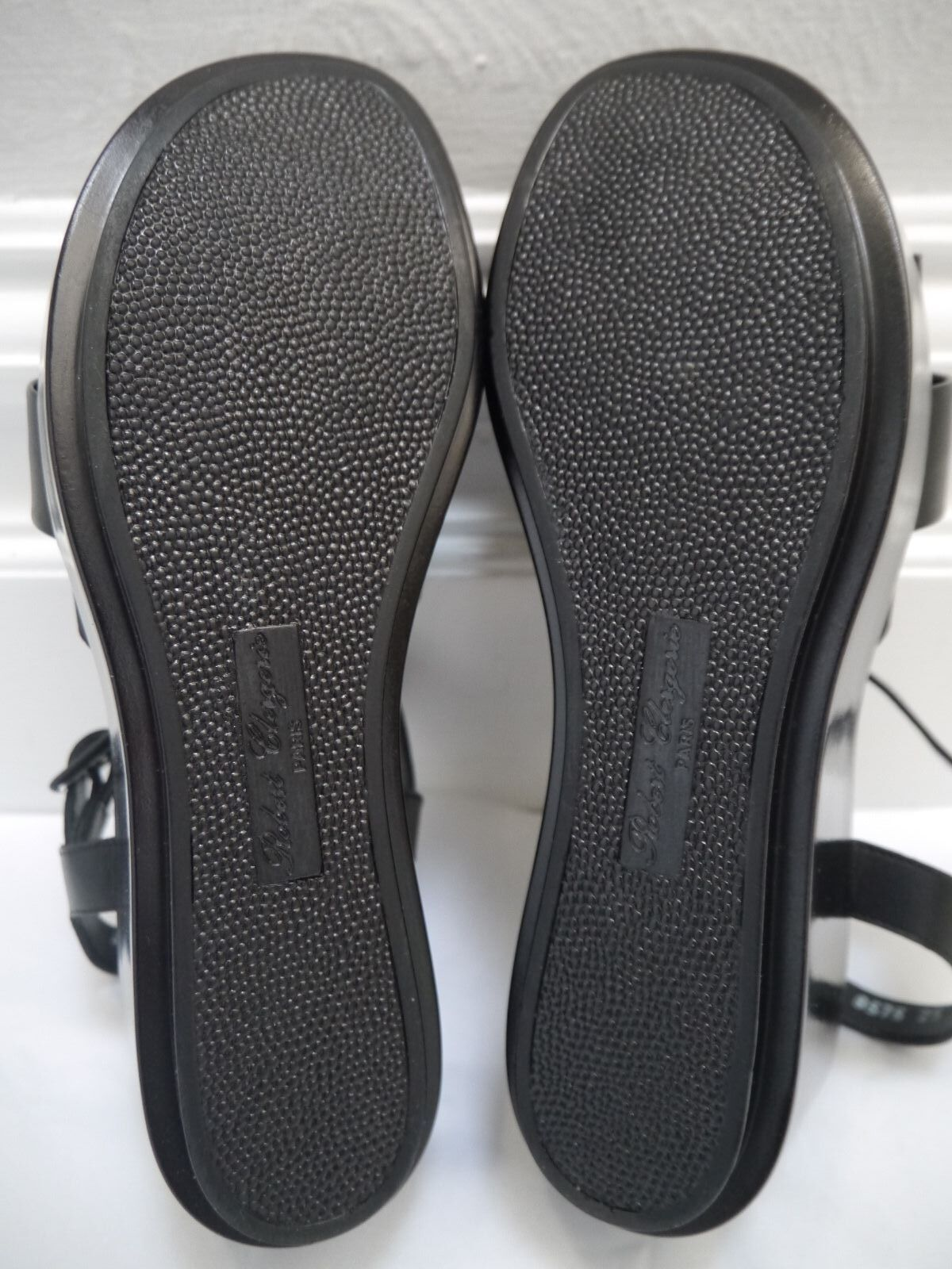 NEW ROBERT CLERGERIE black leather platform sandals size 40.5 40.5 40.5 run small 9 9.5 f314eb