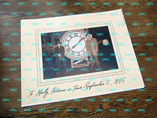 Back to The Future Patch Picture Embroidered Border Clock Tower Marty Doc Brown