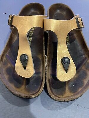 BIRKENSTOCK Gizeh Thong Sandals, GOLD Golden Brown, Size US 6.57 37 | eBay