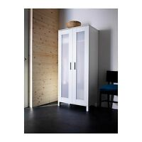 Ikea Aneboda Wardrobe Armoire White Closet Storage Bedroom Cabinet Clothes