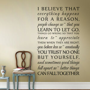 Image is loading Inspirational-Wall-Decal-I-Believe-That-Quote-Vinyl- & Inspirational Wall Decal I Believe That Quote Vinyl Family Room Home ...