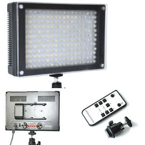 216C Bi-color 216 LED Video Light 3200-5600K Remote For Canon Nikon DSLR Camera