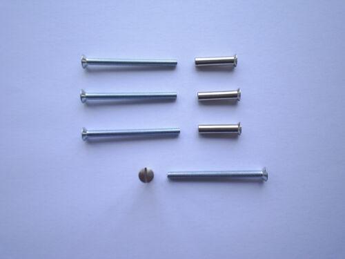 hollow door. fixing screws with sleeve bolts 4 x M4 Door handle furniture