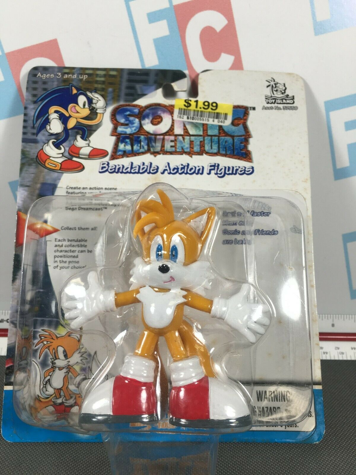 Sonic The Hedgehog Juguete Island 2000 Sonic Adventure Flexible Figura de Acción Tales