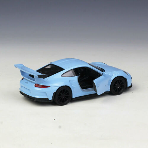 1:36 Welly 2016 Porsche 911 GT3 RS Metal Diecast Model Car New in Box Blue