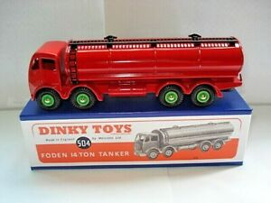 Atlas-Dinky-Supertoy-No-504-Mk2-Foden-Red-Fuel-Tanker-mint-boxed