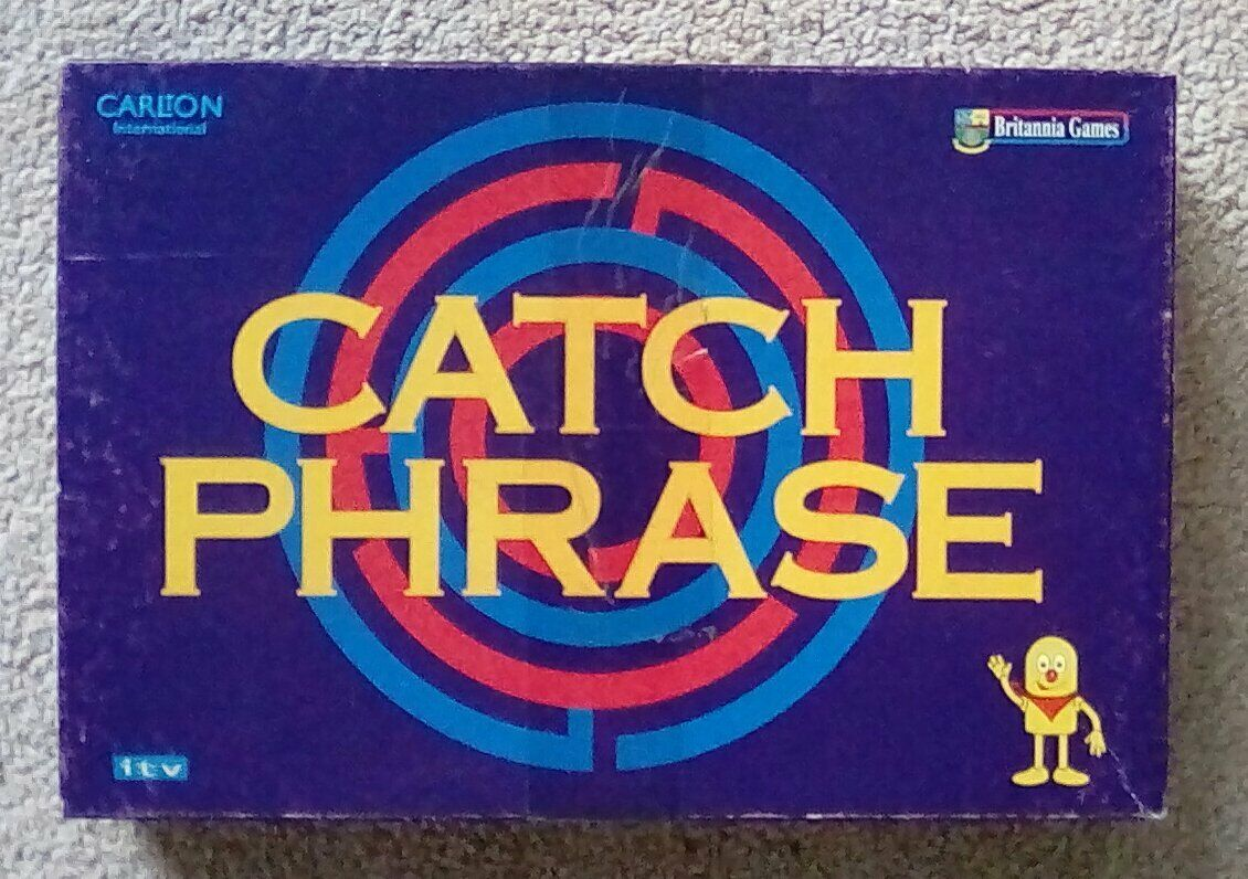 Official Original ITV Catchphrase Board Game Vintage 90s Catch Phrase