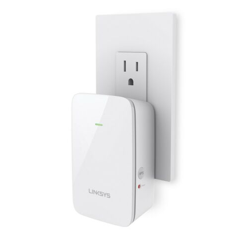 White Linksys Re6350 Wi-Fi Booster AC1200 Dual-Band Wi-Fi Range Extender