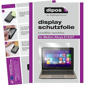 2x-dipos-Medion-Akoya-E1232T-screen-protector-protection-crystal-clear