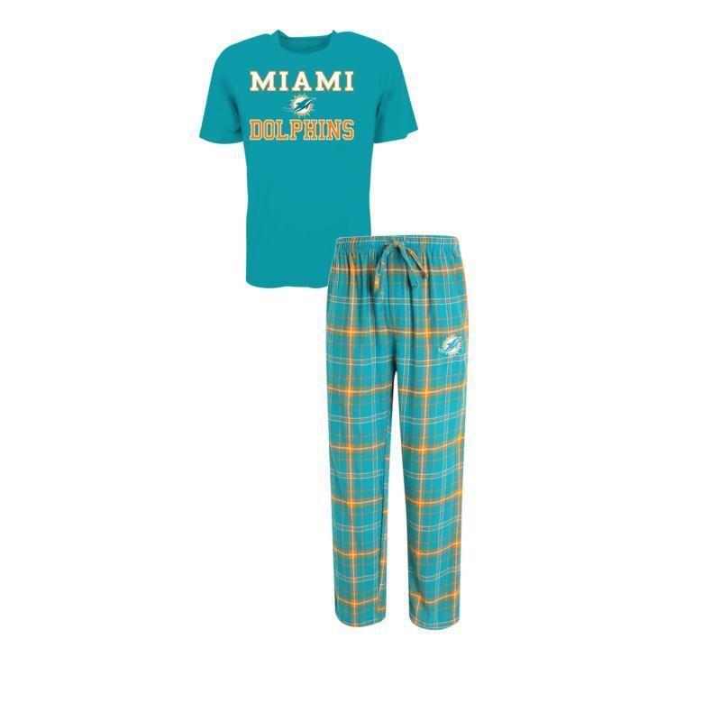 Miami Dolphins Halftime Pajamas Shirt & Pant Sleep Set
