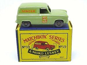 Matchbox-Lesney-No-59a-Ford-Thames-039-cantante-039-van-muy-Raro-Adorno-De-Oro-Plata-Mix