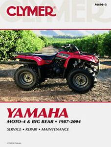 yamaha moto 4 350er big bear 350 400 shop repair manual book rh ebay com 1988 yamaha moto 4 350 service manual 1988 yamaha moto 4 350 service manual