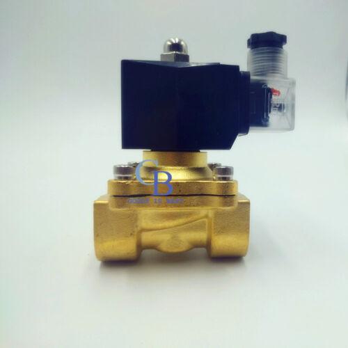"""AC 110V G1//4/"""" Latón Válvula Solenoide Eléctrico Para Agua Aire Impermeable N//c IP65"""