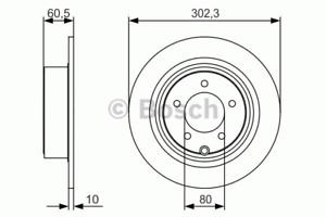 Bosch 0 986 479 R07 2 Stück Bremsscheibe