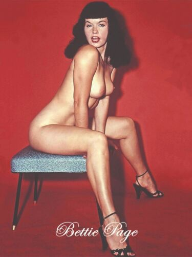 Bettie Paige with red background  FREE SHIPPING