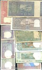 Collect India Old Issue of 100 + 10 + 5 ( 4 DEER) + 5 + 2 + 2 + 1 + 1+1=10 Notes