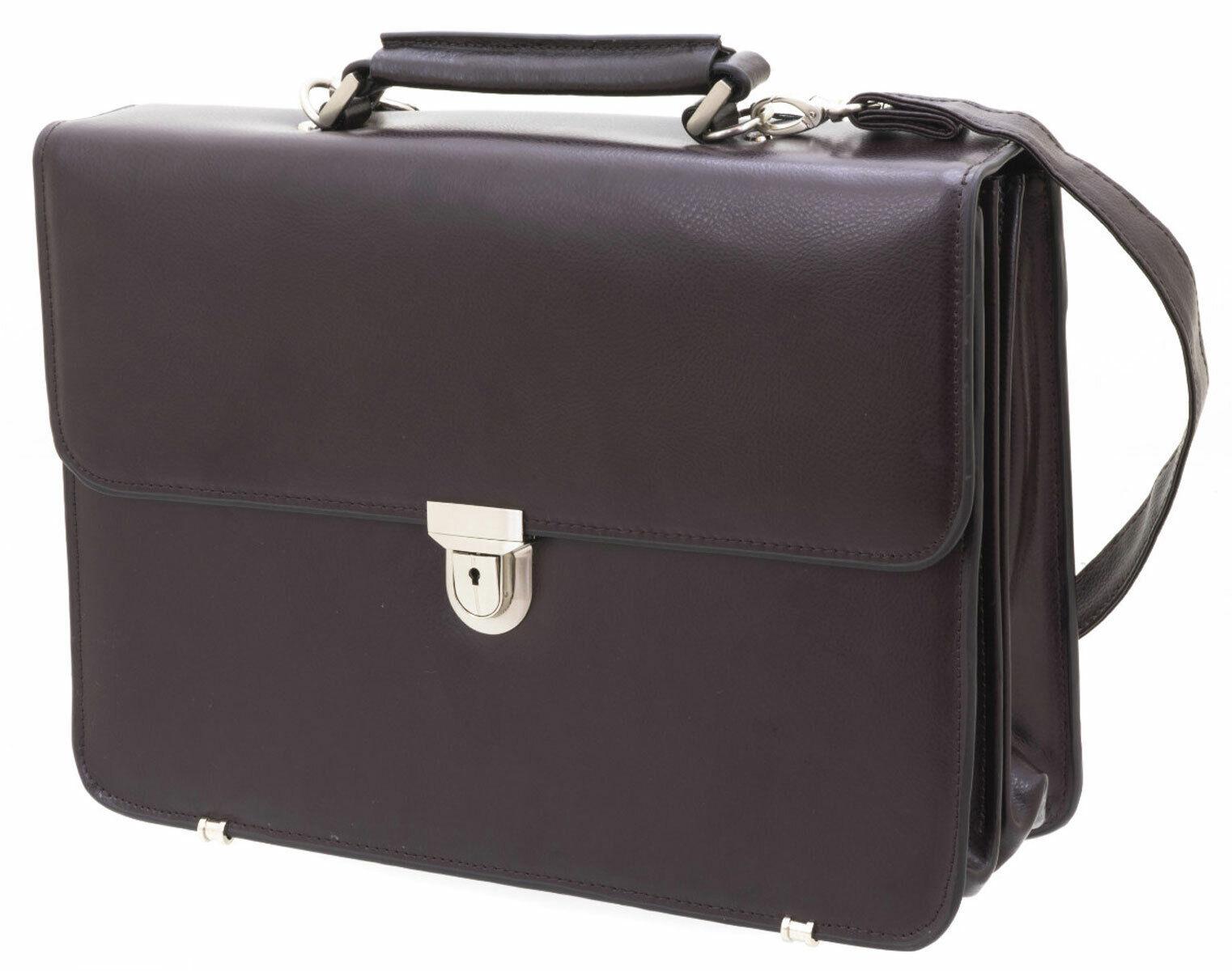 Akten Arbeits Umhänge Tasche Leder 41 x30x15cm Dunkel Braun Davidts - Bowatex | Online Store  | Gutes Design  | New Listing