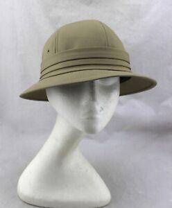 UNITED-HATTERS-CAP-MILLINERY-WORKS-Union-Vintage-Tan-Beige-Safari-Hat-Large-RARE