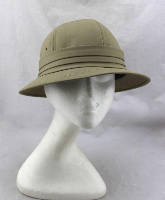 UNITED HATTERS CAP MILLINERY WORKS Union Vintage Tan Beige Safari Hat Large RARE