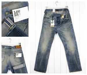 NEW-LEE-101B-JEANS-13oz-SELVEDGE-STRAIGHT-LOOSE-FIT-Vintage-W32-W31-L32