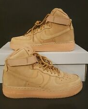 Youth Size 6.5Y Flax Wheat Nike Air Force 1 High LV8 Leather