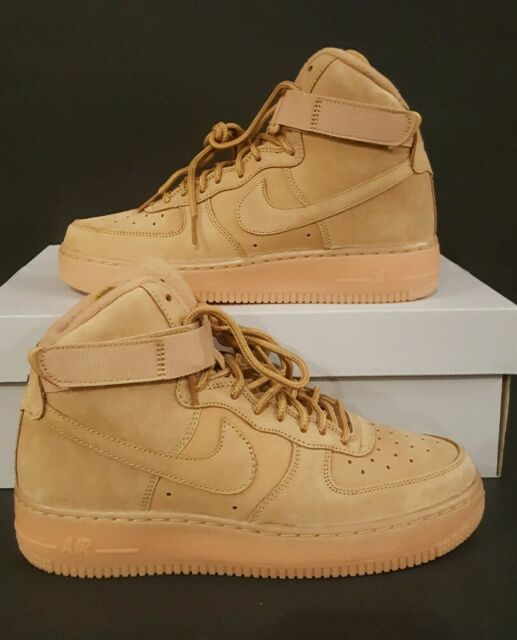 newest e665f 1fb3f Nike Air Force 1 One High 07 LV8 GS Flax Wheat outdoor green 807617-200