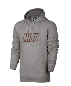 4c08a778d70d New Nike Mens Gray Red Embroidered Sweatshirt Fleece Pullover Hoodie ...