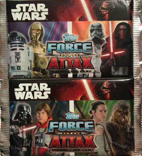 Topps cards STAR WARS Force Attax 25 sealed unopened packs Trading Cards