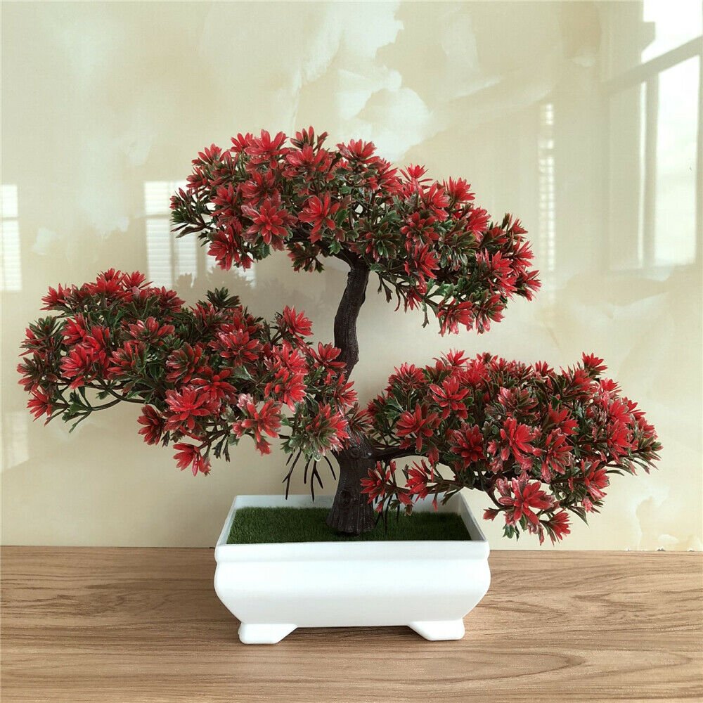 Artificial colorful pine Bonsai plant
