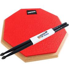 Keepdrum DP-RD Drum Practice Pad Rot Übungspad 8mm Gewinde +Drumsticks 5BB Black