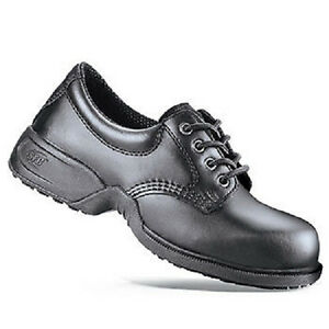 SFC Shoes for Crews Commander Black Leather Women's Shoes 5257 Sz 15.5 / 48 NEW