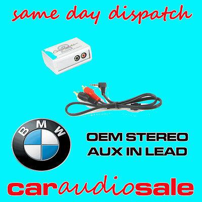 BMW 3 5 7 Series X5 Mini aux adapter lead 3.5mm jack in car iPod MP3 CTVBMX001