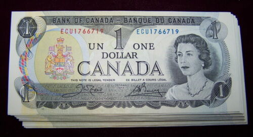 to UNC 10 PCS LOT BANK OF CANADA 1973 $1 NOTES BC-46b   NiceAU
