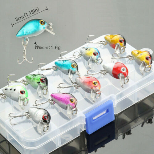 Boxed Fishing Lures Minnow Crank Bait Rattles Wobbler Bass Fishing Tackle Hooks